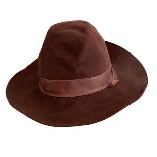Brunello Cucinelli Suede & Leather Hat