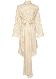 ARJE Lina Cotton Striped Wrap Dress