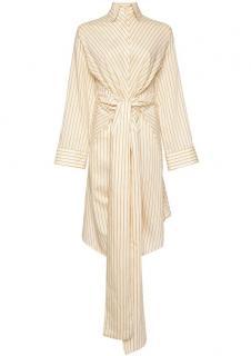 ARJE Lina Cotton Striped Wrap Dress