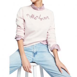 Lingua Franca x Goop Pink 'Motherlover' Cashmere Sweater
