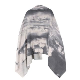 KDK Storm Clouds Cashmere Wool Blend Blanket Scarf