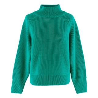 King & Tuckfield Turquoise Forest Chunky Merino Knit Jumper
