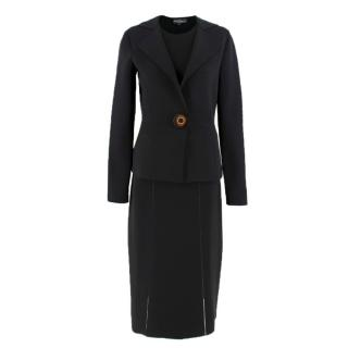 Salvatore Ferragamo three-piece black knit suit