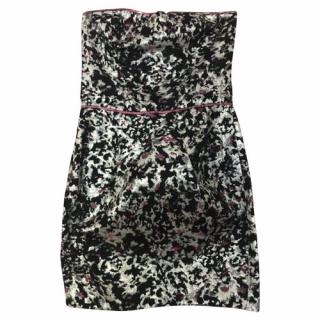 Sandro metallic strapless mini dress