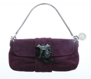 Lanvin Purple Suede Bag