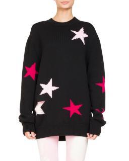 Givenchy Star Knit Crewneck Oversize Sweater