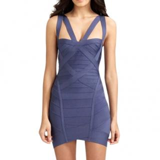 Herve Leger China Blue Bandage Dress