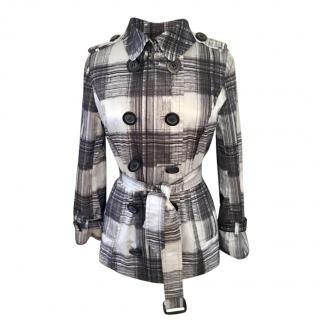 Burberry monochrome mini trench coat