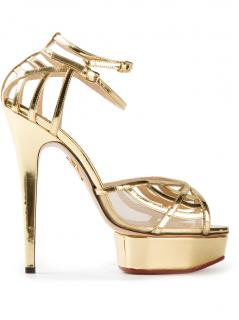 Charlotte Olympia Gold Platform Sandals