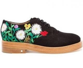 Laurence Dacade floral embroidered lace-up shoes
