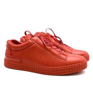 SUSUDIO Red Signature Leather Trainers
