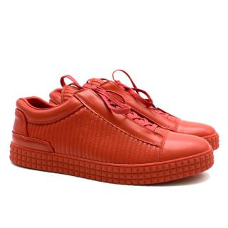 SUSUDIO Red Signature Leather Trainers