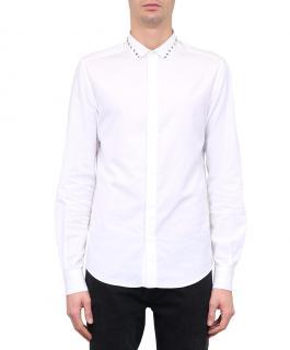 Valentino White Rockstud Cotton-Poplin Shirt