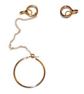 Stella McCartney gold hoop earrings
