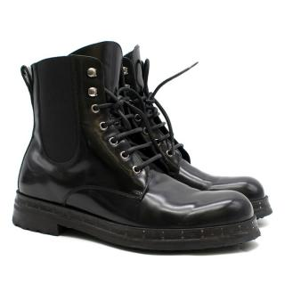 Dolce & Gabbana Black Patent-Leather Boots