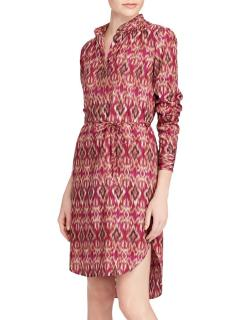 Lauren Ralph Lauren Jenalnio Ikat Crepe de Chine Shirt Dress