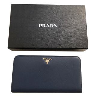Prada Saffiano Blue Wallet