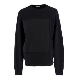 Dior Black Dutchess-Satin Square Panelled Sweater