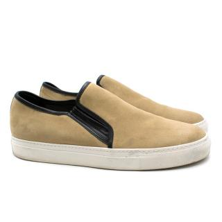 Balmain Natural Suede Slip-on Trainers