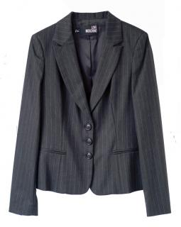 Love Moschino grey & teal pinstripe jacket