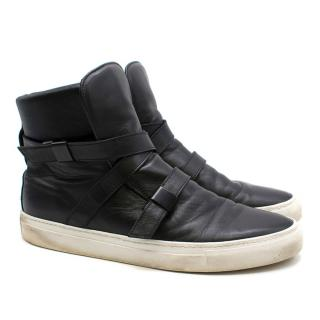 Parallax Black Cipher High-Top Strap Trainers