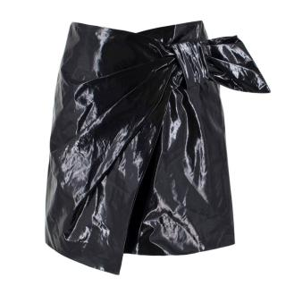 Isabel Marant Black Anders Patent Bow Skirt