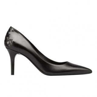 Bottega Veneta nero calf tippie pumps