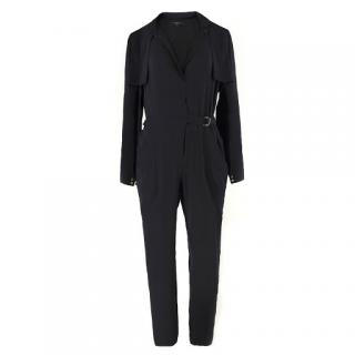 Gucci black silk-blend jumpsuit