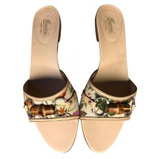 Gucii Floral Bamboo Sandals