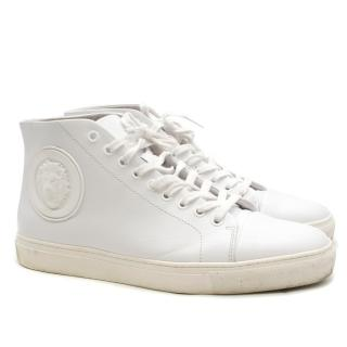 Versus Versace white high-top leather trainers