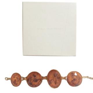 Stella McCartney Brass Amber Style Oversized Bracelet
