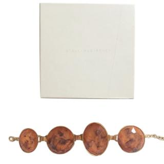 Stella McCartney Brass Amber Style Oversized Bracelet