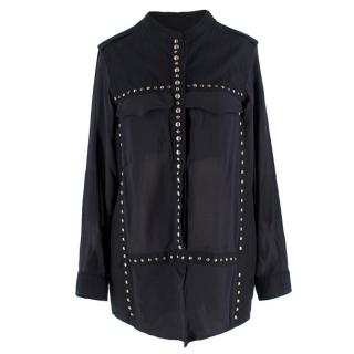 Isabel Marant Navy Studded Blouse