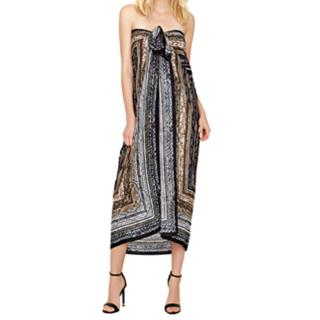 Gottex Snake Charmer Pareo/Scarf/Coverup (Black/Brown)