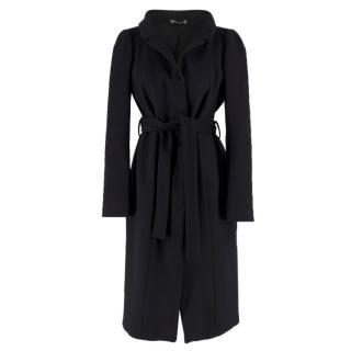 Gucci Black Wool Wrap Coat