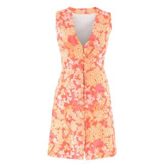 Cult Gaia Floral Print A-Line Buttoned Dress