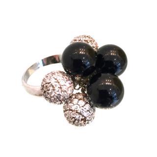 Ambrosia Paris Couture Onyx & Swarovski Crystal Ring