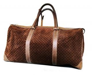 Vintage Gucci leather weekend bag
