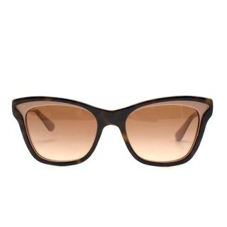 Prada cat-eye tortoiseshell acetate sunglasses