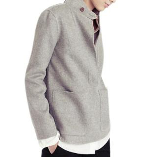 J.Crew grey double-faced cashmere jacket