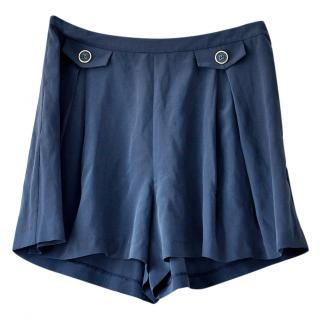 Orla Kiely High Waisted Silk Shorts