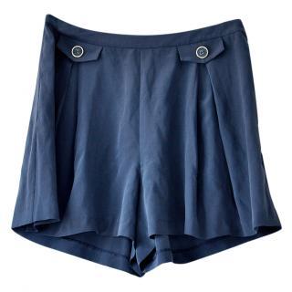 Orla Kiely High Waisted Silk Shorts