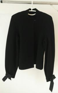 Burberry Grey Wool Swing Coat BIG COLLAR POCKETS UK6 US4
