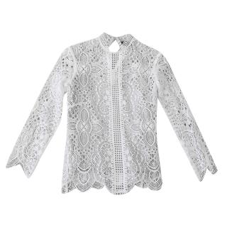The Kooples Lace High Neck Blouse