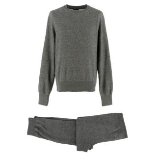Tom Ford grey cotton-blend tracksuit
