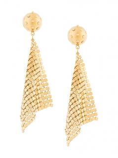 Prada Metallic Mesh Earrings