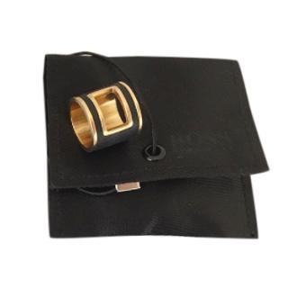 Boss Hugo Boss Leather Gold Plated Ring