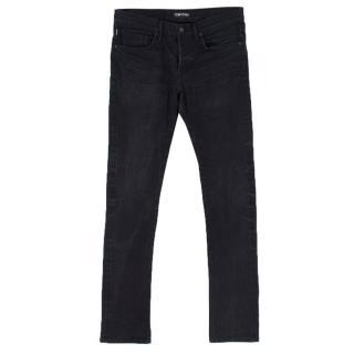 Tom Ford washed-black slim-fit jeans
