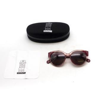 Max & Co Raspberry Pink Round Sunglasses