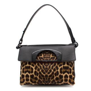 Christian Louboutin Leopard Print top Handle Shoulder Bag